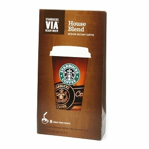 Starbucks Via Instant Coffee Packets, House Blend, 8 pk