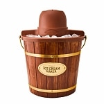 Nostalgia Electrics ICMW-400 4-Quart Wooden Bucket Electric Ice