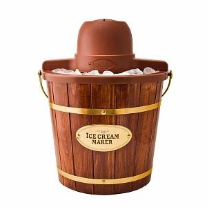 Nostalgia Electrics ICMW-400 4-Quart Wooden Bucket Electric Ice Cream Maker