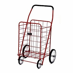 Easy Wheels Jumbo Shopping Cart, Red- 1 ea