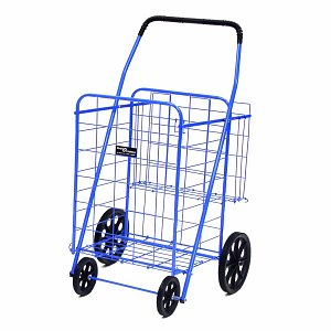 Easy Wheels Shopping Cart Jumbo Plus, Blue- 1 ea