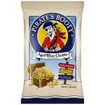 Pirate's Booty Popped Snack Chips, Aged White Cheddar, 24 x 1oz bags