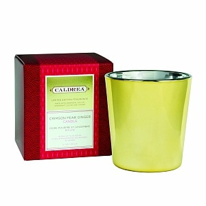 Caldrea Holiday Fragrance Candle, Crimson Pear Ginger