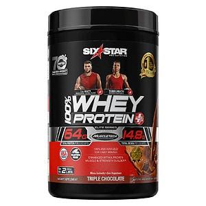 Six Star Whey Protein Plus, Elite Series, Triple Chocolate- 2 lb