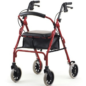 Nova Zoom Rolling Walker, 22 inch, Red- 1 ea