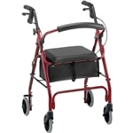 Nova Getgo Classic Rollator, In Red
