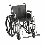 Nova Wheelchair Detachable D/A & S/A Footrests, 18 inch
