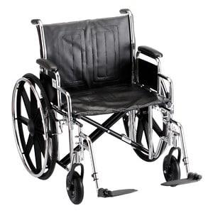 Nova Wheelchair Detachable Desk Arms, Swing Away Footrests, 22 inch- 1 ea