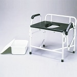 Nova Bar Drop-Arm Commode 800lb. Capacity