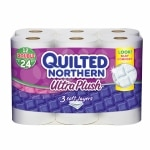 Quilted Northern Ultra Plush Bath Tissue, Double Roll- 12 roll