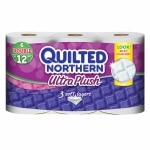 Quilted Northern Ultra Ultra Plush Bath Tissue, Double Roll, 6