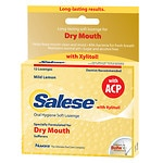 Salese Sensitive, Hours of Dry Mouth Relief, Moisturizing Lozenges, Mild Lemon- 12 ea
