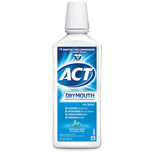 ACT Total Care Dry Mouth Anticavity Mouthwash, Soothing Mint, 18 fl oz