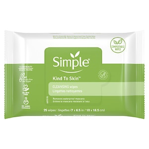 Simple Cleansing Facial Wipes- 25 ea