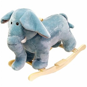 Happy Trails Elephant Plush Rocking Animal