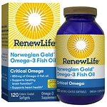 ReNew Life Norwegian Gold Critical Omega, Ultimate Fish Oils, Gels, Orange- 120 ea