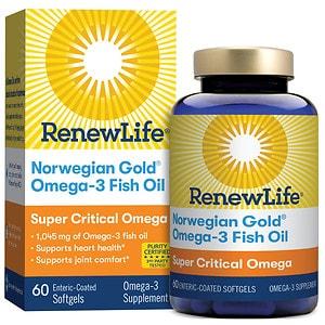ReNew Life Norwegian Gold Super Critical Omega, Ultimate Fish Oils, Gels, Orange- 60 ea