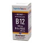 Superior Source No Shot Methylcobalamin B12/B6/Folic Acid 800mcg,