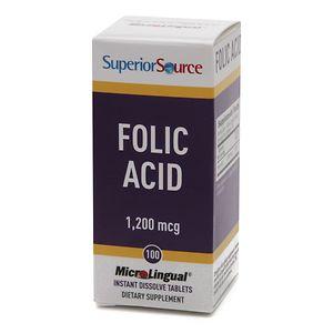Superior Source Folic Acid 1200mcg Extra Strength, Dissolve Tablets- 100 ea