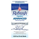 Refresh Optive Advanced Lubricant Eye Drops- .33 fl oz