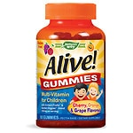 Nature's Way Alive! Children's Multivitamin, Gummies- 90 ea