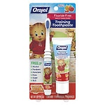 Orajel Toddler Thomas Toddler Training Toothpaste with Toothbrush, Tooty Fruity