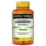 Mason Natural Highly Concentrated Cranberry with Probiotic, Tablets