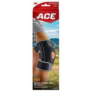 Ace Knee Brace with Dual Side Stabilizers, Model 200290, One Size Adjustable- 1 ea