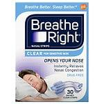 Breathe Right Nasal Strips, Small/Medium, Clear- 30 ea
