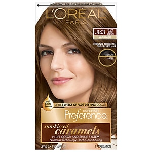 L'Oreal Paris Preference Sun-Kissed Caramels, Hi-Lift Gold Brown Ul63
