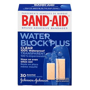 Band-Aid Adhesive Bandages, Clear, Assorted Sizes