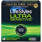 LifeStyles Lubricated Latex Condoms, Ultra Sensitive- 40 ea