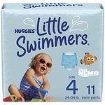 Huggies Little Swimmers Disposable Swimpants, Unisex, Medium, 24-34 lbs, 11 ea