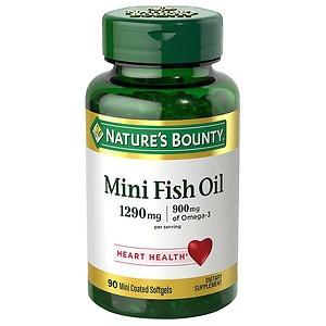 Nature's Bounty Fish Oil 1290 mg, 900 mg Omega-3, Softgels, 90 ea