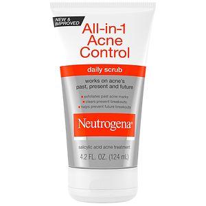 Neutrogena All-in-1 Acne Control Daily Scrub, 4.2 fl oz