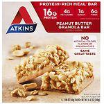 Atkins Advantage Meal Bars, Peanut Butter Granola- 5 ea