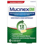 MucinexDM Expectorant and Cough Suppressant 1200mg Extended-Release Bi-Layer Tablets