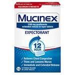 Mucinex Maximum Strength 12 Hour Expectorant, Extended-Release