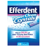 Efferdent Power Clean Crystals, Anti-Bacterial Denture Cleaner, Icy Mint- 48 ea