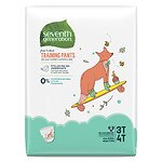 Seventh Generation Free & Clear Training Pants, Size 3T-4T- 22 ea