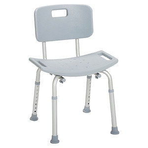 Drive Medical Bathroom Safety Shower Tub Bench Chair with Back- 1 ea