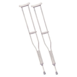 Drive Medical Walking Crutches with Underarm Pad & Handgrip, Tall Adult