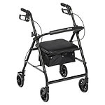 Drive Medical Rollator Walker with Fold Up and Removable Back