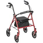 Drive Medical Four Wheel Rollator Walker with Fold Up Removable