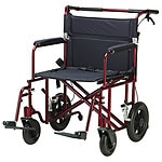 Drive Medical Bariatric Heavy Duty Transport Chair, 22 Inch