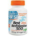 Doctor's Best Benfotiamine, 300mg, Veggie Caps- 60 ea