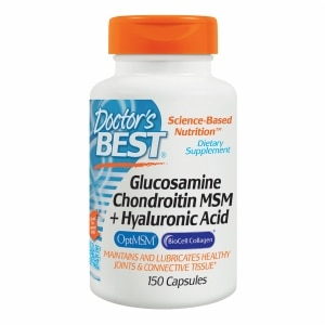 Doctor's Best Glucosamine Chondroitin MSM + Hyaluronic Acid, Capsules- 150 ea