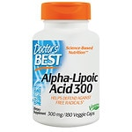 Doctor's Best Alpha-Lipoic Acid, 300mg, Veggie Caps- 180 ea