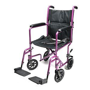 Everest & Jennings Aluminum Transport Chair, Pink