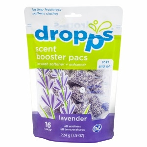 Dropps HE Laundry Scent Booster Pacs w/ In-Wash Softener + Enhancer Pacs, Lavender- 16 ea